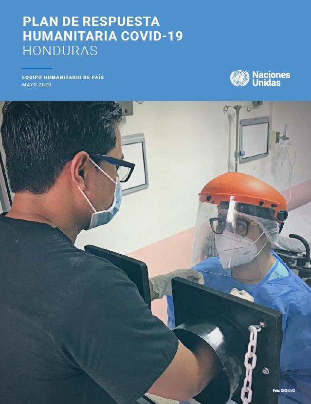 Portada del Plan de Respuesta Humanitaria COVID-19 Honduras
