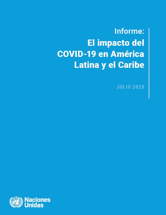 Portada de Informe: El impacto del COVID-19 en América Latina y el Caribe