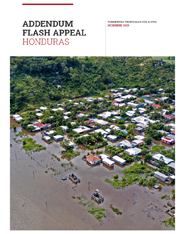 Portada Addendum Flash appeal Honduras